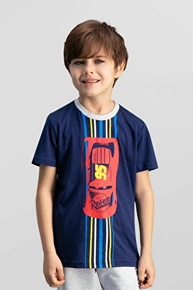 Cars Cars Lisanslı Lacivert Erkek Çocuk T-Shirt Lacivert